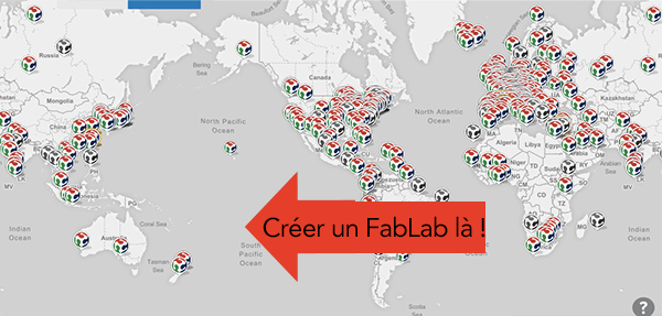 Carte des FabLabs dans le monde https://www.fablabs.io/map